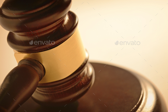 Judge or auctioneers gavel - Stock Photo - Images