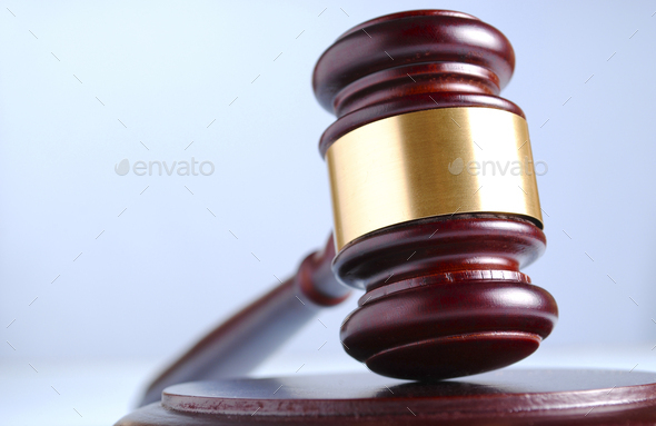 brown gavel - Stock Photo - Images