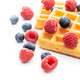 Waffles with blueberries and raspberries. - PhotoDune Item for Sale