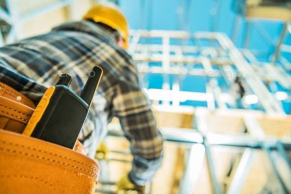 Construction Site Communication - Stock Photo - Images
