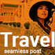 Free Download Travel Social Media Post Template with Orange Color Theme Nulled