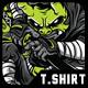 Masked Hunter T-Shirt Design