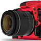 Free Download DSLR Camera in Red & Black Nulled