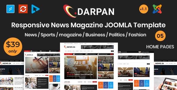 Darpan - News Magazine Joomla Template