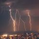 Beautiful lightning over night city - PhotoDune Item for Sale