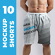 Free Download 10 Mockups Man's Athletic Shorts Nulled