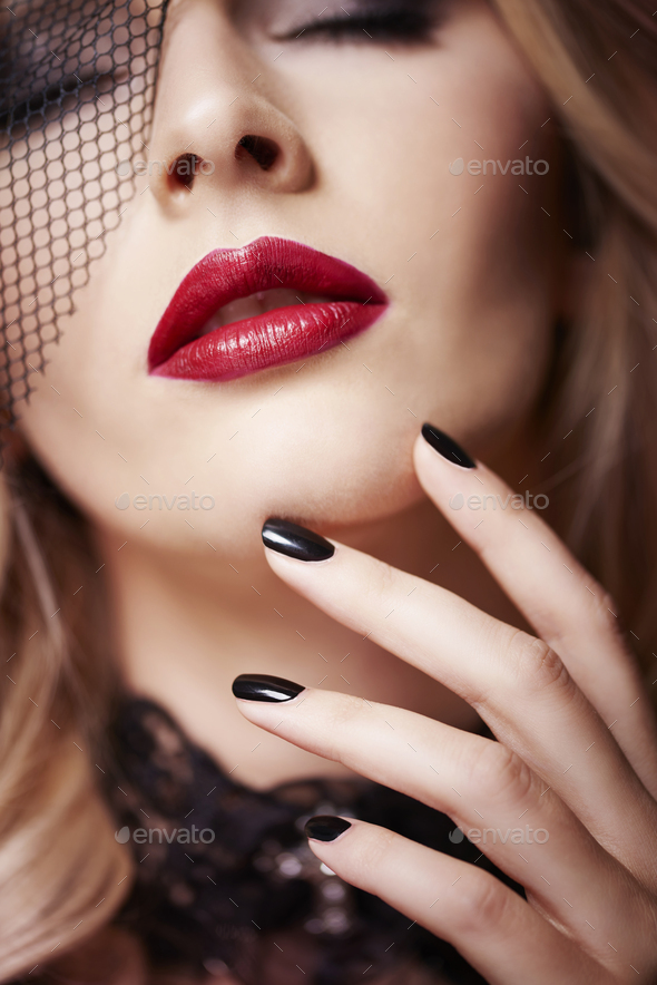 Close up of attractive woman - Stock Photo - Images