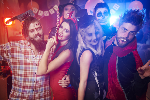 Group of friends dancing at the party - Stock Photo - Images