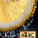 Water Flowing Down the Lemon Slice - VideoHive Item for Sale