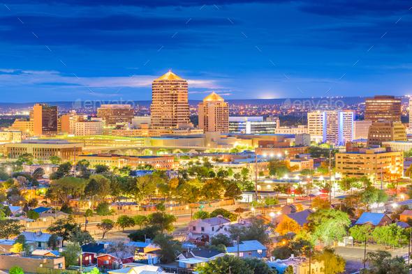 Albuquerque, New Mexico, USA Cityscape - Stock Photo - Images
