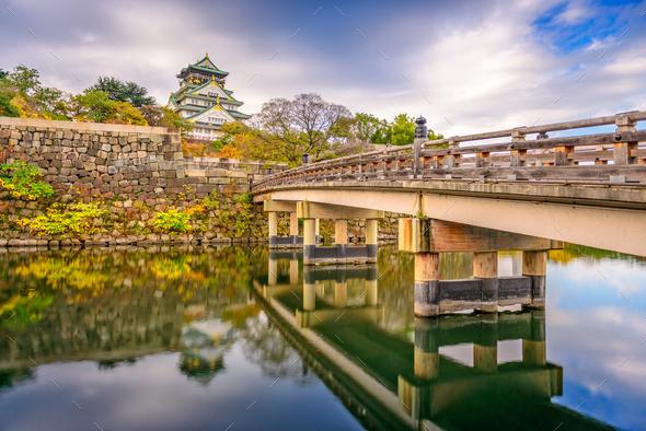 Osaka, Japan at Osaka Castle - Stock Photo - Images