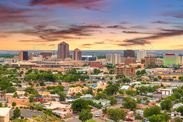 Albuquerque, New Mexico, USA Cityscape - Stock Photo - Images