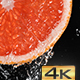 Water Flowing Down the Grapefruit Slice - VideoHive Item for Sale