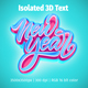 Free Download New Year Isolated 3D Text Nulled