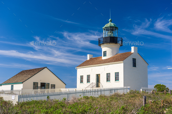 San Diego, California at the Old Loma Point - Stock Photo - Images