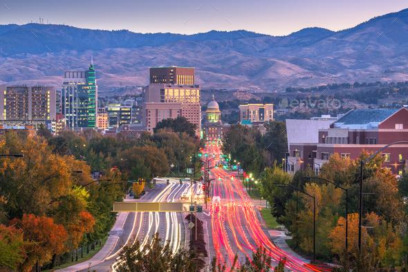 Boise, Idaho, USA Downtown - Stock Photo - Images