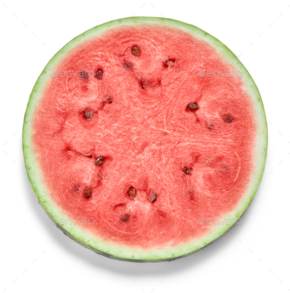 Round slice of watermelon - Stock Photo - Images