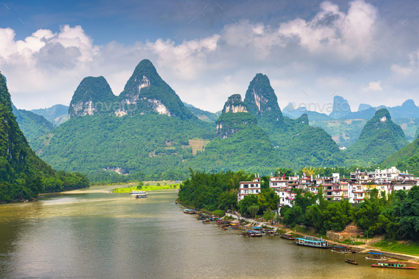 Guilin China Landscape - Stock Photo - Images