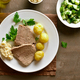 Free Download Boiled beef with potatoes and horseradish Nulled
