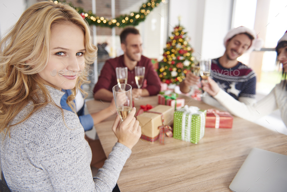 We can celebrate Christmas all day long - Stock Photo - Images
