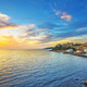 Piombino sunset view from piazza bovio.Tuscany Italy - PhotoDune Item for Sale