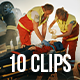 Collection of Working Emergency Team Rescuing People - Pack of 10 Clips - VideoHive Item for Sale