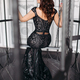Free Download Beautiful brunette woman wearing shiny black dress posing in cage like bird Nulled