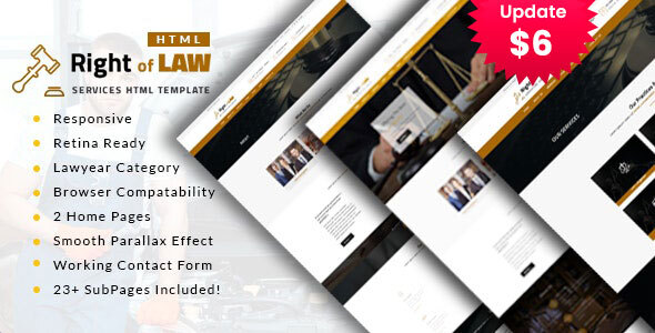Right of Law : Attorney, Lawyer and Law Agency HTML Template