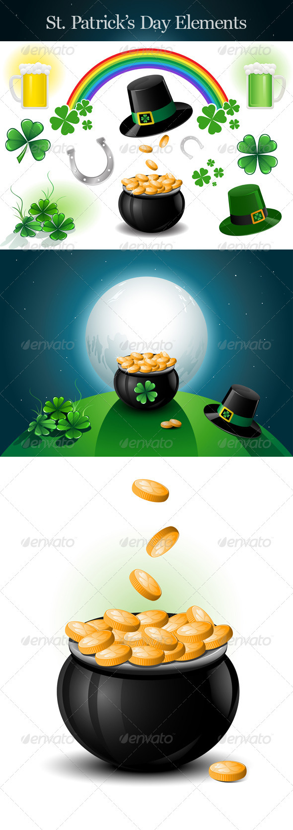 St. Patrick's Day Design Elements. - Miscellaneous Seasons/Holidays