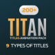 Titan Titles Animation Pack for Premiere Pro - VideoHive Item for Sale