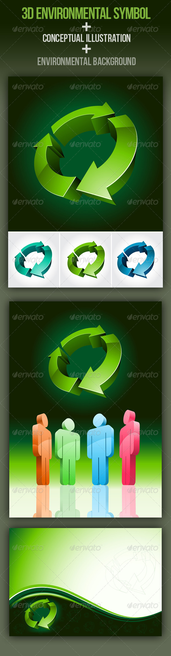Download 3d Environmental Symbol Set  AI EPS Vector
