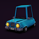 Free Download Car handpainted Low Poly Gameready Nulled