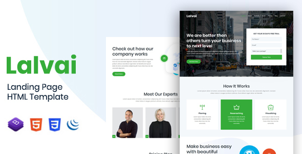 Lalvai - Landing Page HTML Template by themes_master