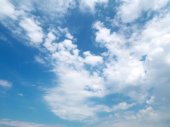 Blue skylight and clouds. - Stock Photo - Images