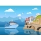 Free Download Landscape with Great Cruise Liner Near Coast Nulled