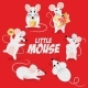 Free Download Chinese New Year Symbol Set  of Mouse Nulled