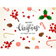 Free Download Christmas Decorations with Candy and Holly Berries Nulled
