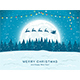 Free Download Santa with Reindeer on Blue Christmas Background Nulled