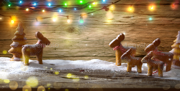 Christmas ginger bread - Stock Photo - Images