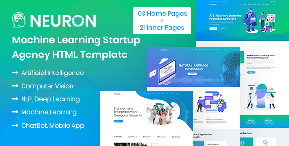 Neuron - Machine Learning & AI Startups HTML Template by auburnforest