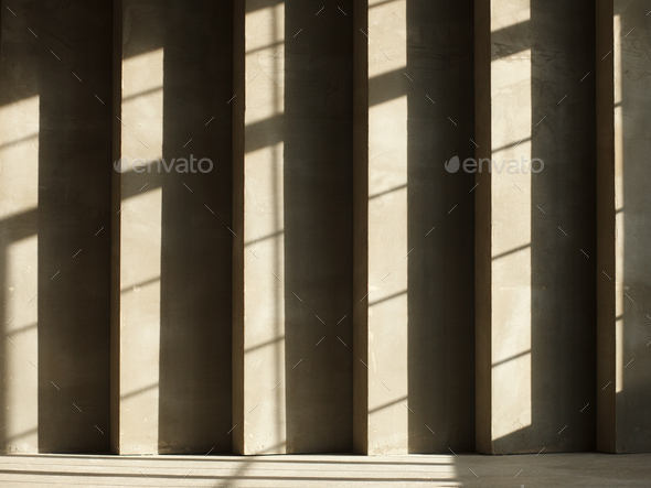 concrete wall with sun highlights and shadows - Stock Photo - Images