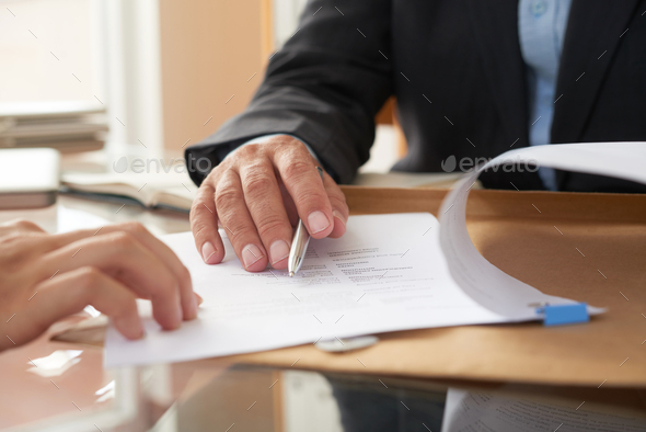 Business people signing a contract - Stock Photo - Images