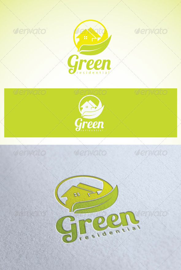 Logo Green Residential - Buildings Logo Templates