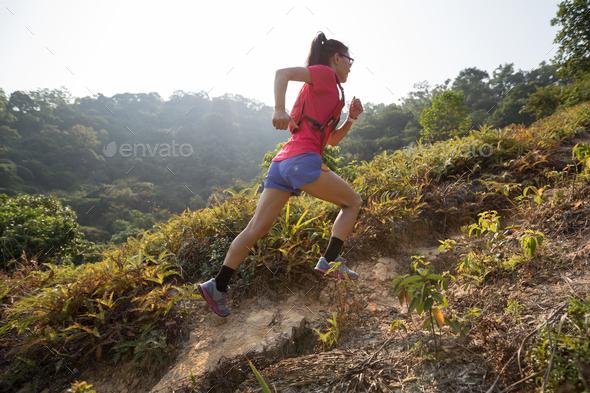 Running to peak - Stock Photo - Images