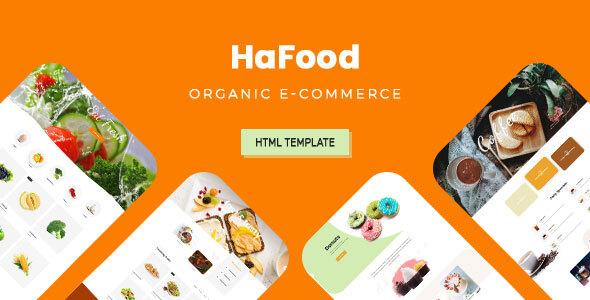 HaFood - Organic E-commerce HTML Template