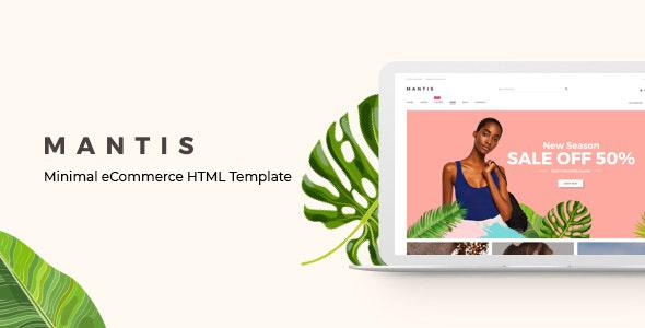 Mantis – Minimal eCommerce HTML Template