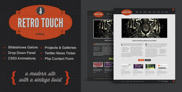 Retro Touch – Creative Portfolio Html Template