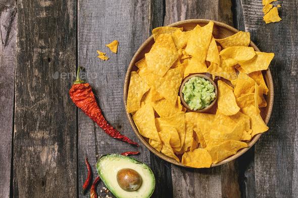 Tortilla nachos chips - Stock Photo - Images