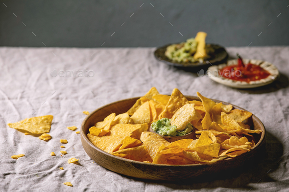 Tortilla nachos chips - Stock Photo - Images