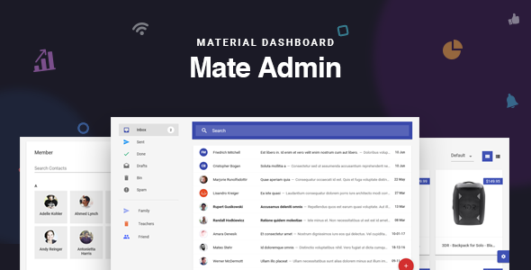 Mate - React Redux Material Admin Dashboard by redqteam